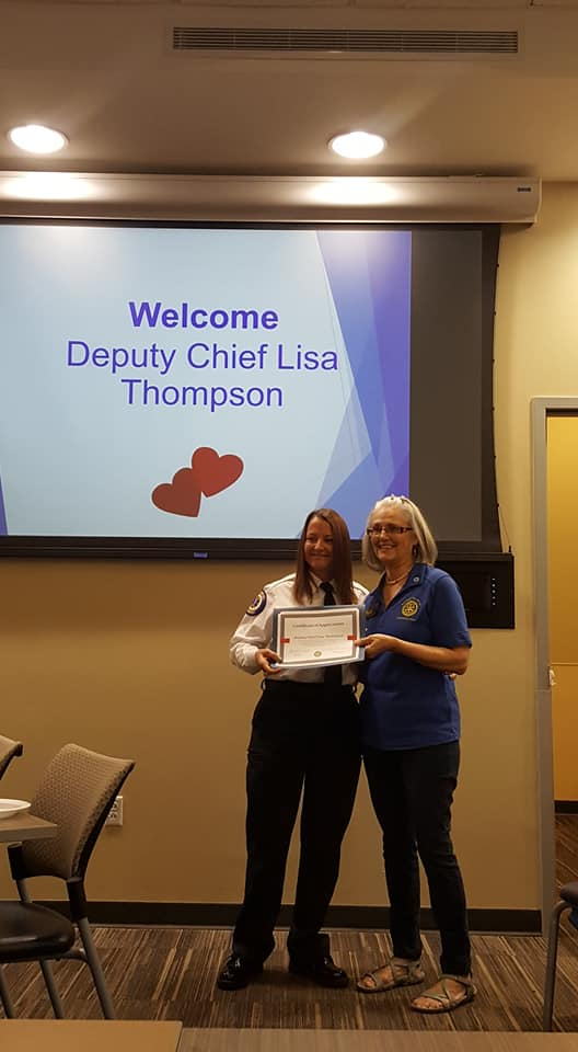Deputy Chief Lisa Thompson with St. Cloud Fire Department